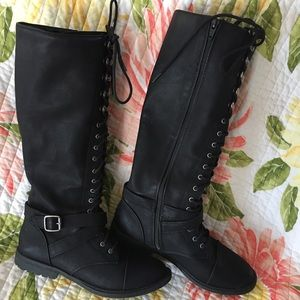 Black funky tall boots from Target size 8.5
